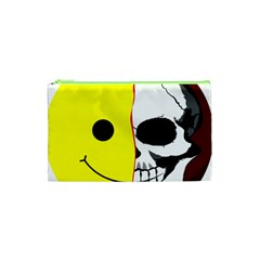 Skull Behind Your Smile Cosmetic Bag (xs) by BangZart