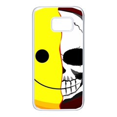 Skull Behind Your Smile Samsung Galaxy S7 White Seamless Case by BangZart