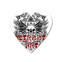 Tattoo Tribal Street Art Heart Magnet by Valentinaart