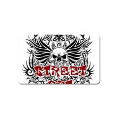Tattoo Tribal Street Art Magnet (name Card) by Valentinaart