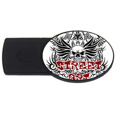 Tattoo Tribal Street Art Usb Flash Drive Oval (2 Gb) by Valentinaart