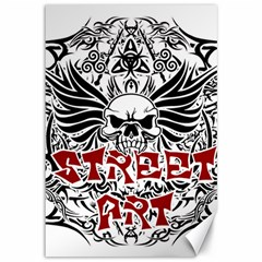 Tattoo Tribal Street Art Canvas 12  X 18   by Valentinaart