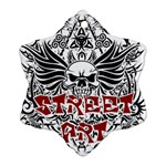 Tattoo tribal street art Snowflake Ornament (Two Sides) Front