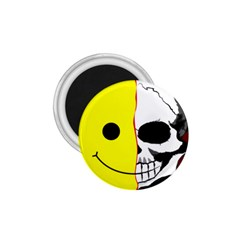 Skull Behind Your Smile 1 75  Magnets by BangZart