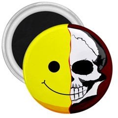 Skull Behind Your Smile 3  Magnets by BangZart