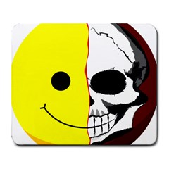 Skull Behind Your Smile Large Mousepads by BangZart