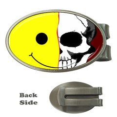 Skull Behind Your Smile Money Clips (oval)  by BangZart