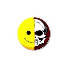 Skull Behind Your Smile Golf Ball Marker