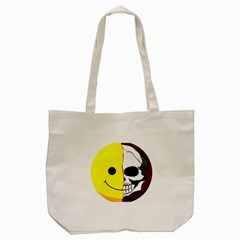 Skull Behind Your Smile Tote Bag (cream) by BangZart