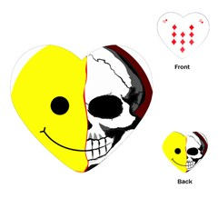 Skull Behind Your Smile Playing Cards (heart)  by BangZart