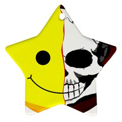 Skull Behind Your Smile Star Ornament (two Sides)