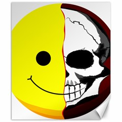 Skull Behind Your Smile Canvas 8  X 10