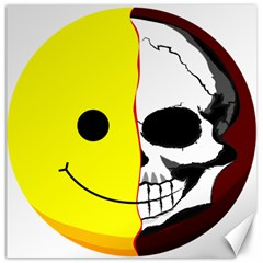 Skull Behind Your Smile Canvas 16  X 16   by BangZart