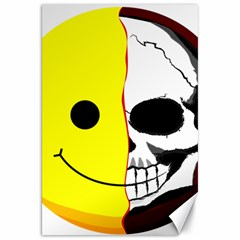 Skull Behind Your Smile Canvas 20  X 30