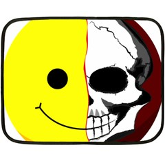 Skull Behind Your Smile Double Sided Fleece Blanket (mini)  by BangZart