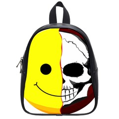 Skull Behind Your Smile School Bags (small)  by BangZart