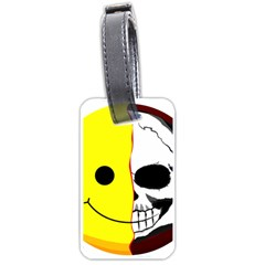 Skull Behind Your Smile Luggage Tags (two Sides) by BangZart