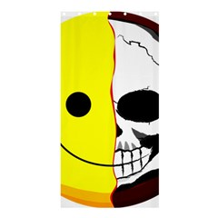 Skull Behind Your Smile Shower Curtain 36  X 72  (stall)