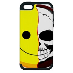 Skull Behind Your Smile Apple Iphone 5 Hardshell Case (pc+silicone) by BangZart