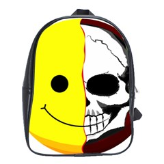 Skull Behind Your Smile School Bags (xl)  by BangZart