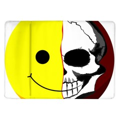 Skull Behind Your Smile Samsung Galaxy Tab 10 1  P7500 Flip Case
