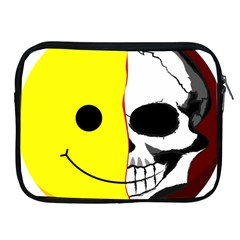 Skull Behind Your Smile Apple Ipad 2/3/4 Zipper Cases by BangZart