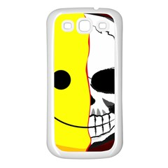 Skull Behind Your Smile Samsung Galaxy S3 Back Case (white) by BangZart