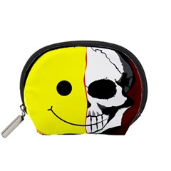 Skull Behind Your Smile Accessory Pouches (small)