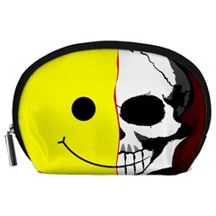 Skull Behind Your Smile Accessory Pouches (large)  by BangZart