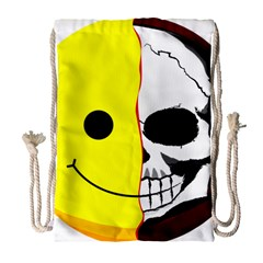 Skull Behind Your Smile Drawstring Bag (large) by BangZart