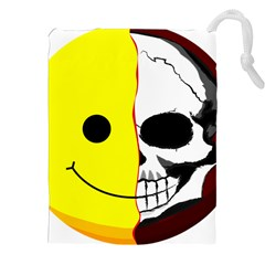 Skull Behind Your Smile Drawstring Pouches (xxl)