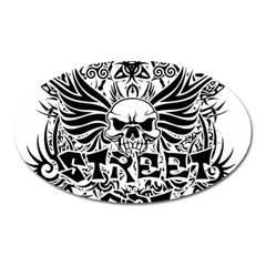 Tattoo Tribal Street Art Oval Magnet by Valentinaart