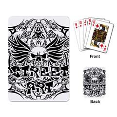 Tattoo Tribal Street Art Playing Card by Valentinaart
