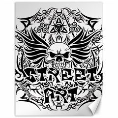 Tattoo Tribal Street Art Canvas 12  X 16   by Valentinaart