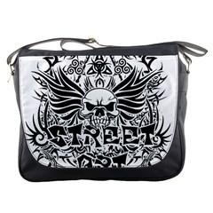 Tattoo Tribal Street Art Messenger Bags by Valentinaart