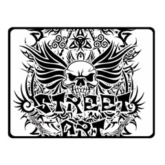 Tattoo Tribal Street Art Double Sided Fleece Blanket (small)  by Valentinaart