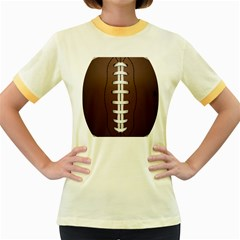 Football Ball Women s Fitted Ringer T Shirts by BangZart