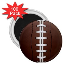 Football Ball 2 25  Magnets (100 Pack)