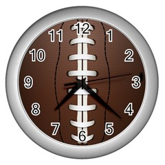 Football Ball Wall Clocks (silver)  by BangZart