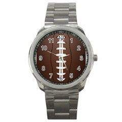 Football Ball Sport Metal Watch by BangZart