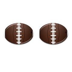 Football Ball Cufflinks (oval) by BangZart