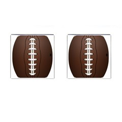 Football Ball Cufflinks (square) by BangZart