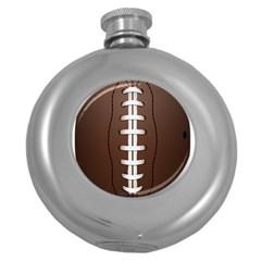 Football Ball Round Hip Flask (5 Oz)