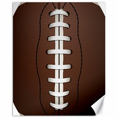 Football Ball Canvas 11  X 14   by BangZart