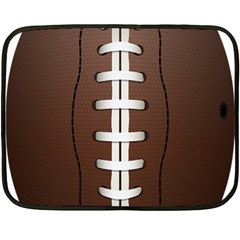 Football Ball Fleece Blanket (mini) by BangZart