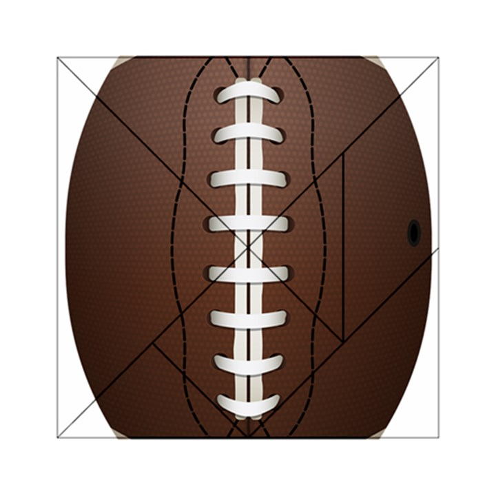 Football Ball Acrylic Tangram Puzzle (6  x 6 )