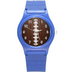 Football Ball Round Plastic Sport Watch (s) by BangZart