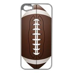 Football Ball Apple Iphone 5 Case (silver)
