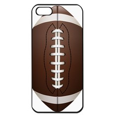 Football Ball Apple Iphone 5 Seamless Case (black) by BangZart