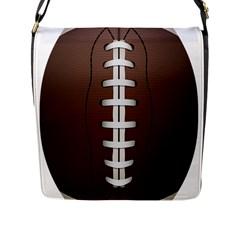 Football Ball Flap Messenger Bag (l)  by BangZart